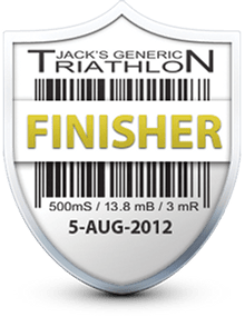 Finisher: Jack's Generic Tri