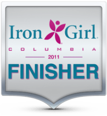 Iron Girl 2011 Finisher's Badge