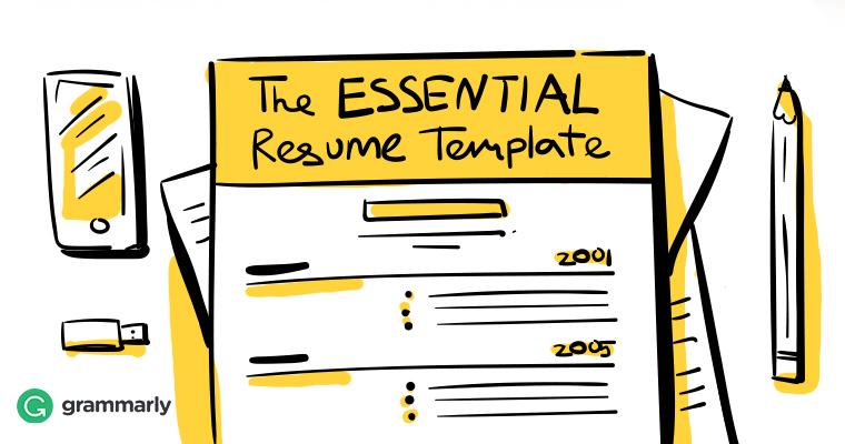 the essential résumé template grammarly blog