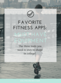 Favorite fitness apps  must have equipment (workbook image)