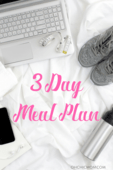 3 day meal plan image