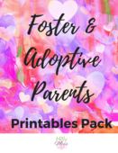 Foster and adoptive parents printable cover