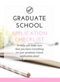 Graduate school application checklist (workbook image)
