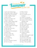 Westview roots summer bucket list