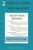 Adjust your mindset poster