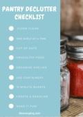 Pantry declutter checklist