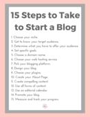 15 steps to take to start a blog checklist