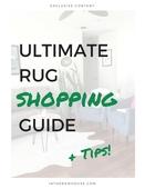 Rug shopping guide
