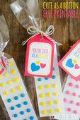 Cute as a button free valentine printable