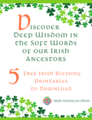 Cover free irish blessing printables