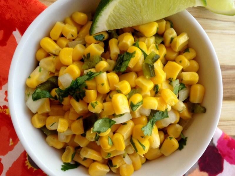 Corn Salsa with Roasted Poblanos