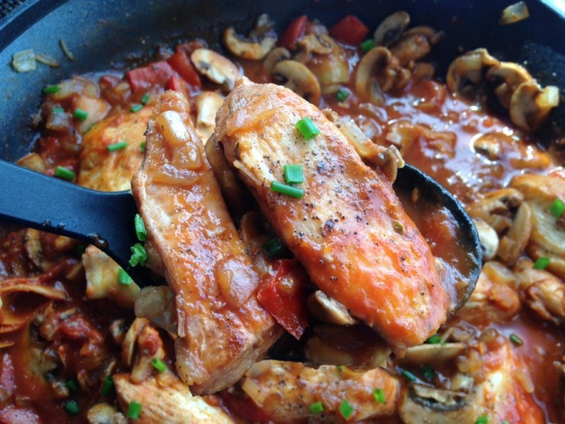 Tuscan Chicken - Cooking Up Happiness