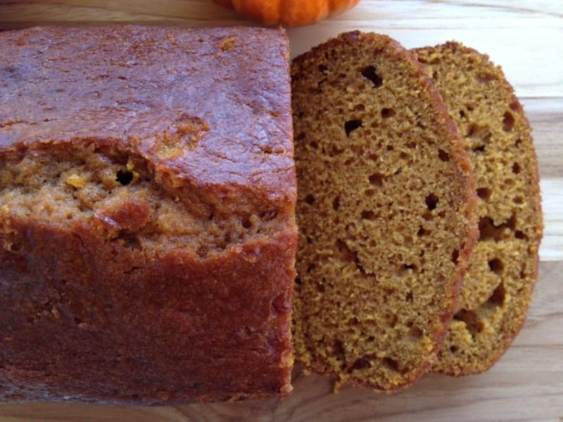 Easy Spiced Pumpkin Bread