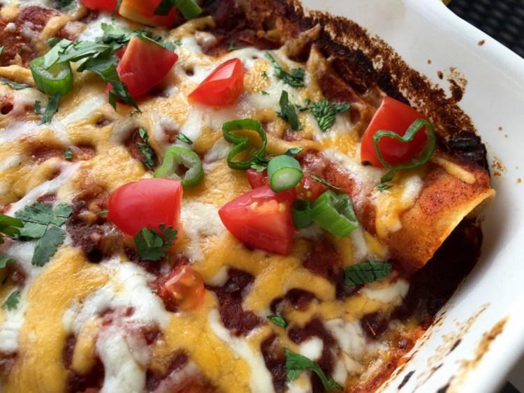 Vegetarian Tofu Enchiladas - Cooking Up Happiness