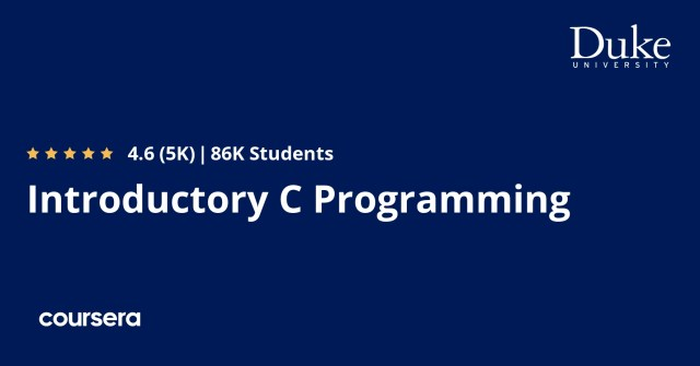 Introductory C Programming  Coursera