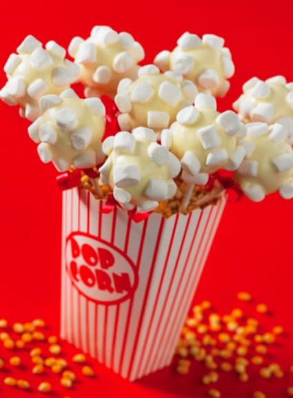 Movie Night Popcorn Cake Pops