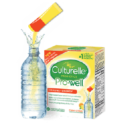 Water Bottle & Culturelle® powder