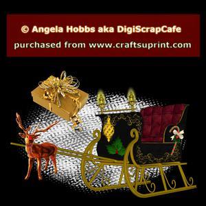 Christmas Sleigh Template