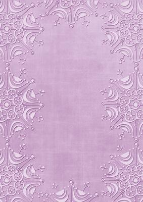 Lilac Embossed Snowflake Border A4 Backing Paper