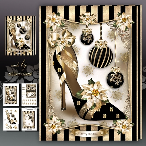 Ladies Christmas Elegant Shoes Mini Kit CUP7494961641