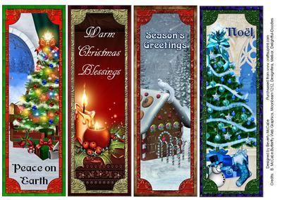 Beautiful Christmas Bookmarks CUP2784201399 Craftsuprint