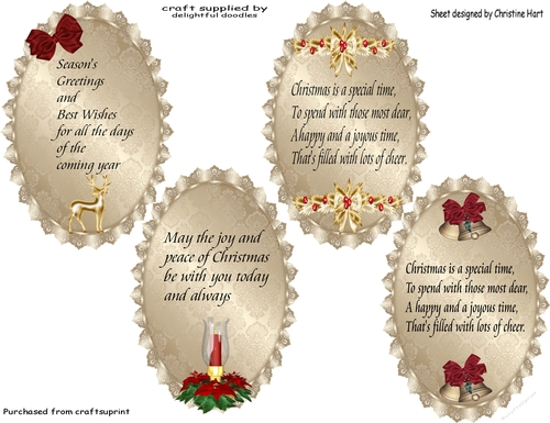 Verses For Cards Christmas CUP7495802232 Craftsuprint
