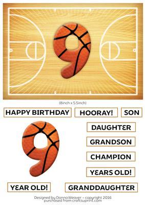 Basketball Birthday 9 Year Old CUP6725842311 Craftsuprint