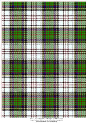 Green Amp White Tartan Effect A4 Backing Paper CUP259551
