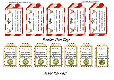 Reindeer Dust Amp Magic Key Tags CUP649386905 Craftsuprint
