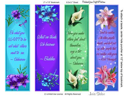 Gorgeous Lilly Bookmarks CUP6599482049 Craftsuprint