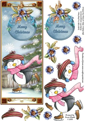 Penguin Gliding Christmas DL CUP7275281056 Craftsuprint