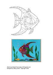 Fish Iris Folding Pattern CUP51987601 Craftsuprint