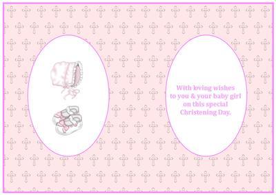 Baby Girl Christening Insert CUP207825719 Craftsuprint