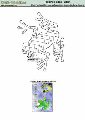 Frog Iris Folding Pattern CUP22489172 Craftsuprint