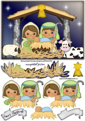 Cute Nativity With Animals Sbs CUP486805262 Craftsuprint