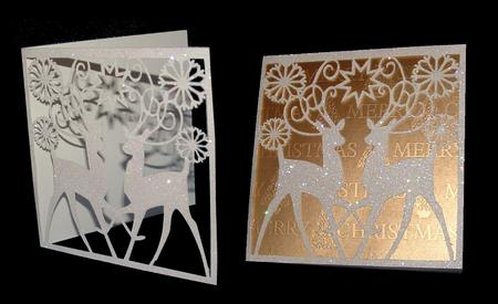 Quick To Make Reindeer Christmas Card CUP6928311929