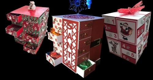 24 Drawer Advent Christmas Cube With Optional Christmas