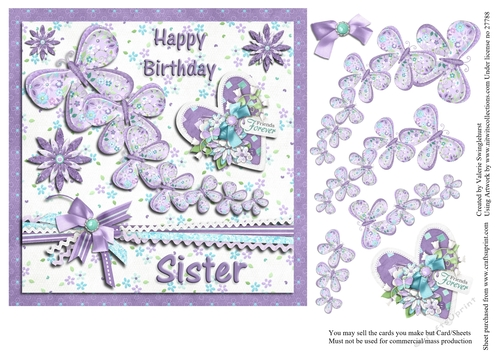 Happy Birthday Sister Butterfly Trail Cup760371 880 Craftsuprint