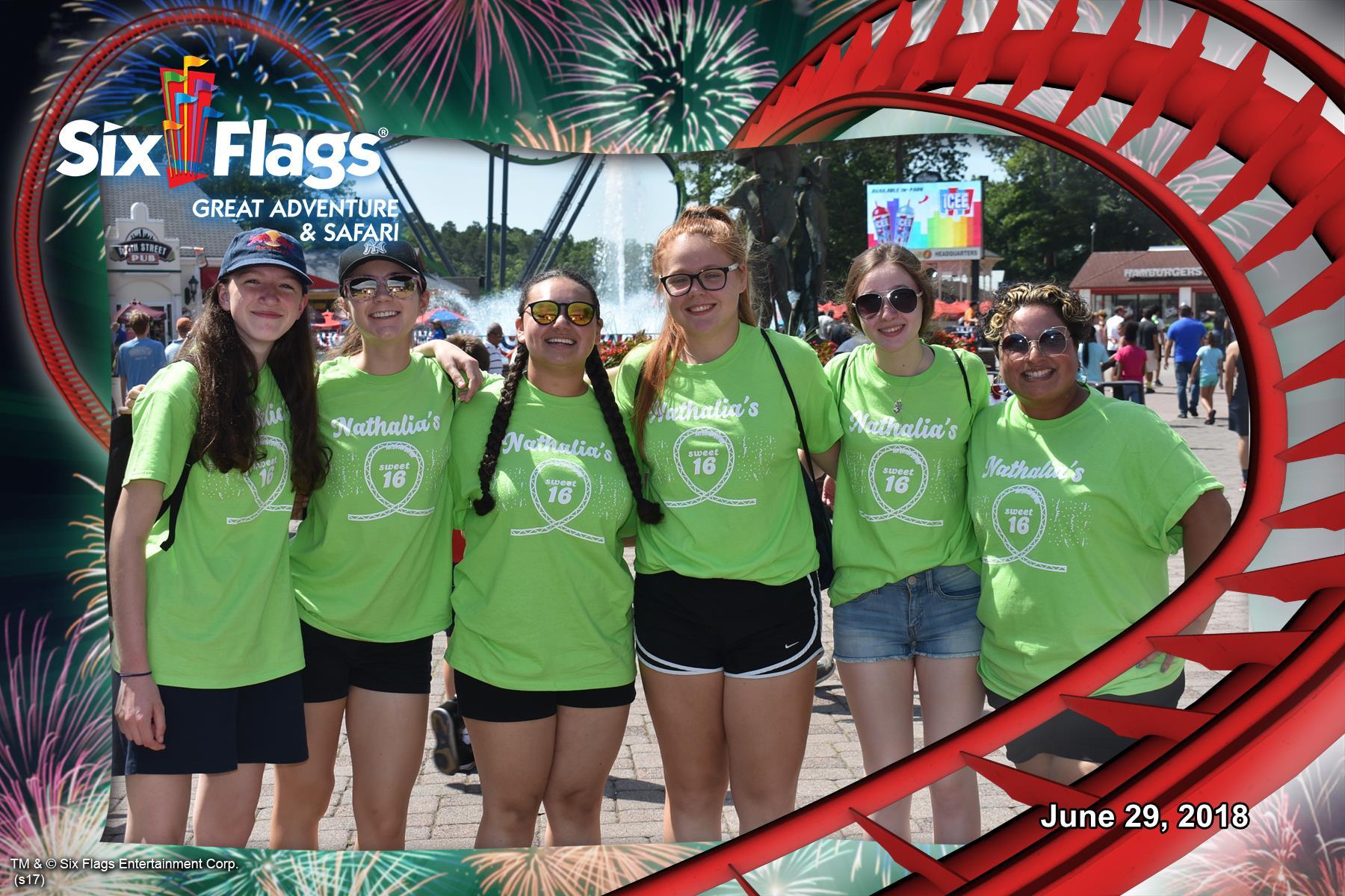 Custom T Shirts For Six Flags Sweet 16 Shirt Design Ideas