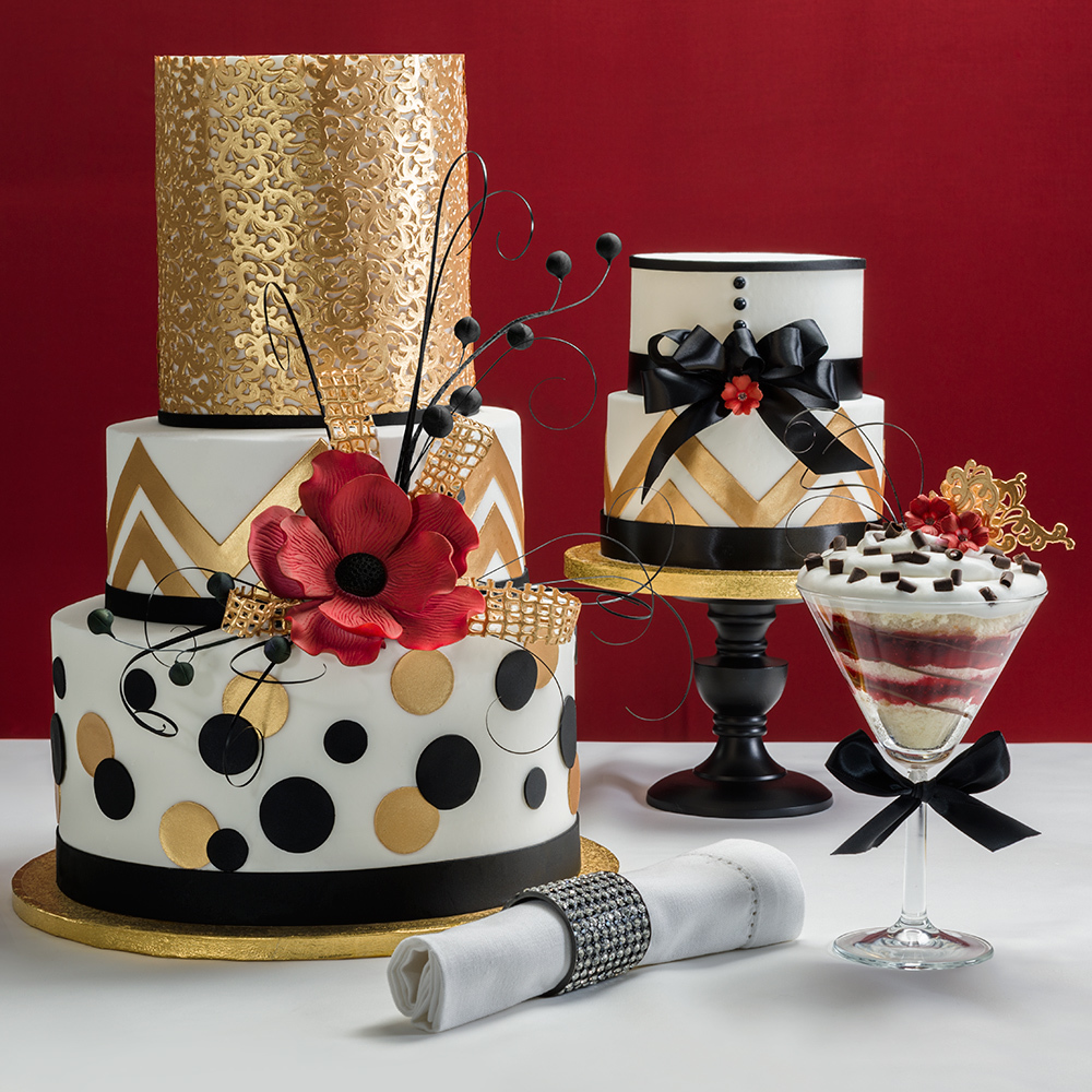 Bold Metallic Wedding Cakes | DecoPac