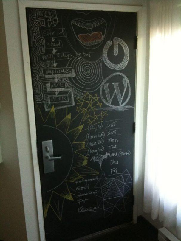 Chalk-board Door