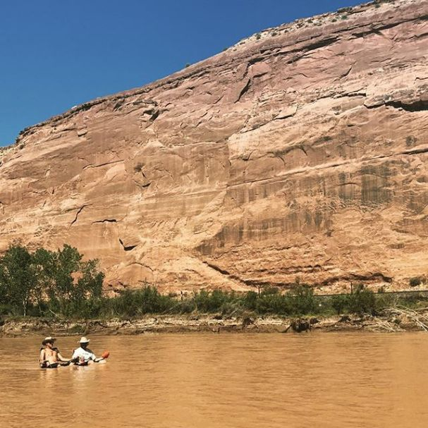Chilling in the river. #Colorado #Utah #river #canoecamping