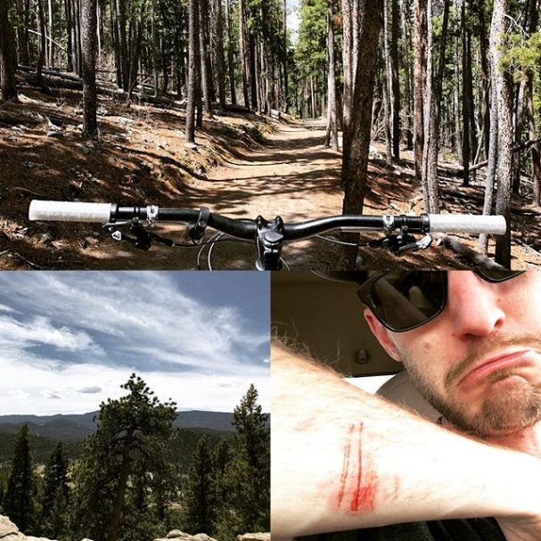 Nice loop today out at Dedisse Park and Aldefer/Three Sisters. Had a close call with a tree that woke me up. Could have been a LOT worse.  #specialized #enduromtb #enduro