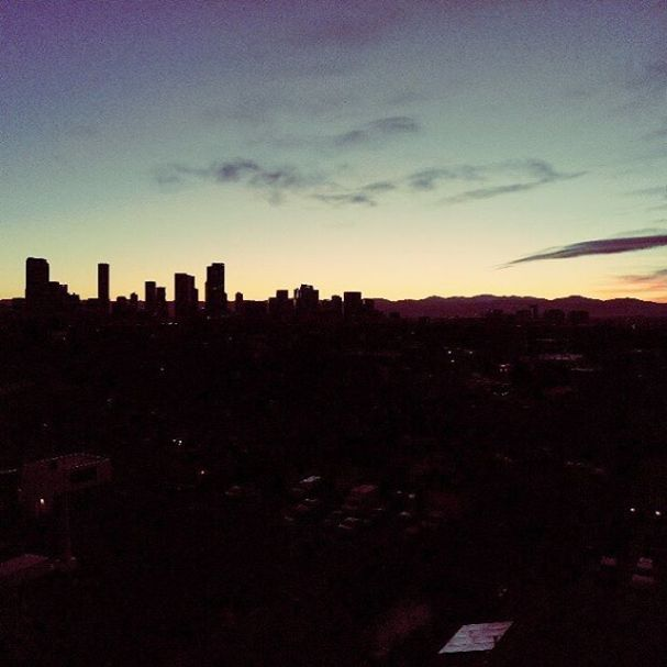 Denver sunset skyline. Taken with new @djiglobal Mavic Air #drone #dronephotography #denver #dronestagram