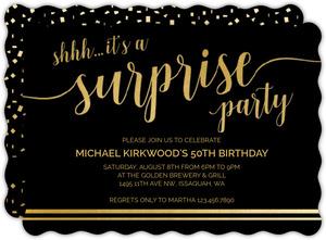 It S A Surprise 75th Birthday Invitation 75th Birthday Invitations