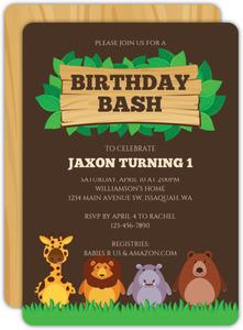 safari birthday invitations purpletrail