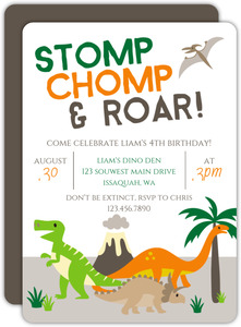 dinosaur birthday invitations purpletrail