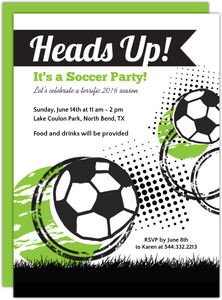 soccer party invitations and invites