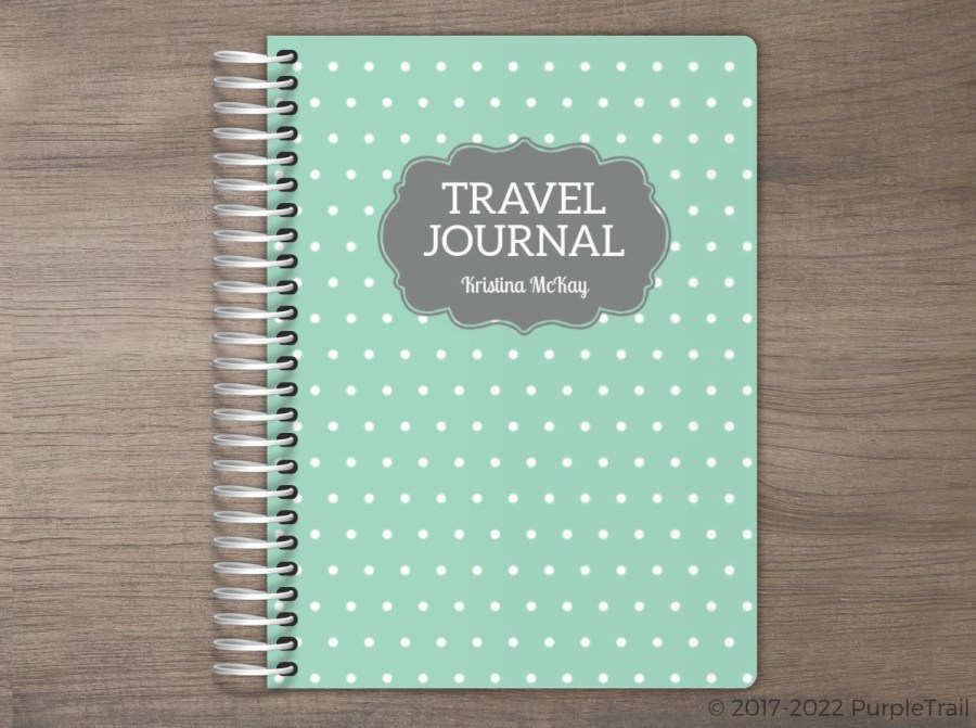 Vintage Polka Dot Travel Journal
