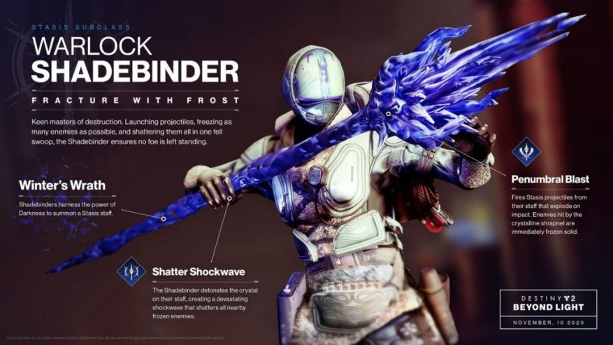 Destiny 2 Warlock Shadebinder Fähigkeiten